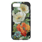 White Orange Poppies Vintage Art iPhone 7 case