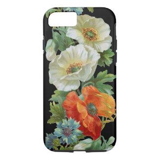 White Orange Poppies Vintage Art iPhone 7 case