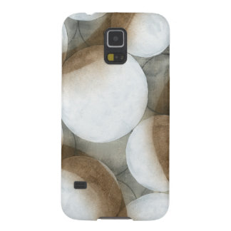 White Orbs & Brown Circles Case For Galaxy S5