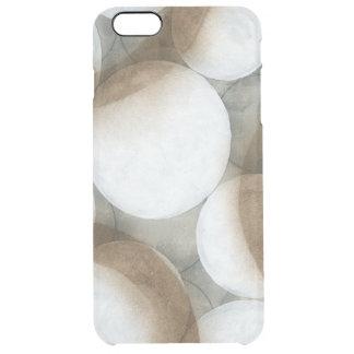 White Orbs & Brown Circles Clear iPhone 6 Plus Case