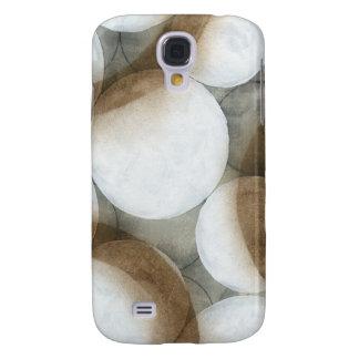White Orbs & Brown Circles Galaxy S4 Case