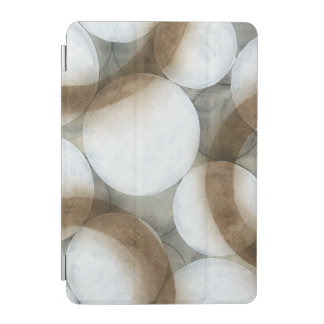 White Orbs & Brown Circles iPad Mini Cover