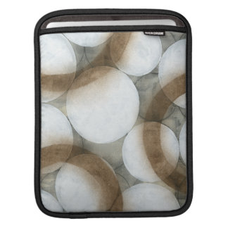 White Orbs & Brown Circles iPad Sleeve