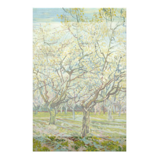 White Orchard by Vincent Van Gogh Custom Flyer