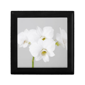 White Orchid (2) Small Square Gift Box