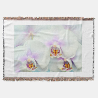 White Orchid blanket/throw