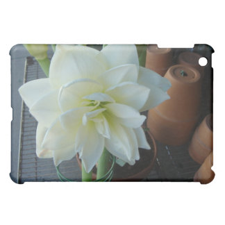 White orchid cover for the iPad mini