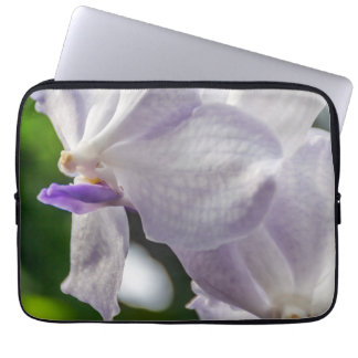 White orchid laptop sleeve