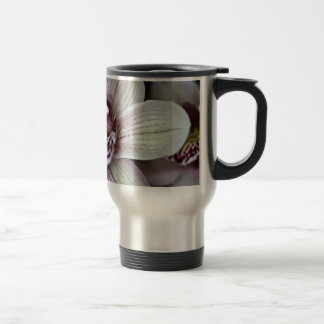 White Orchid Stainless Steel Travel Mug