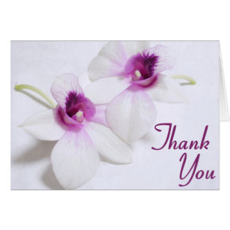 White Orchid Thank You Cards