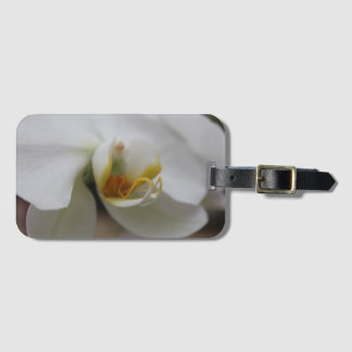 White Orchid Travel Luggage Tag