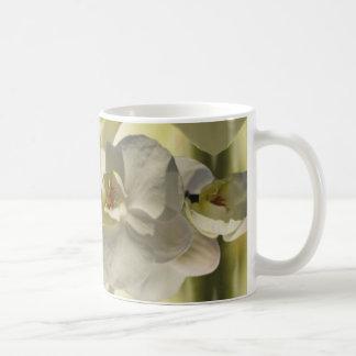White orchid wedding basic white mug