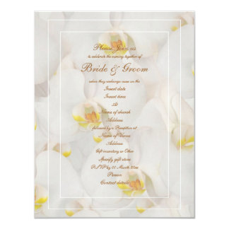 White orchid wedding stylish template personalized invitations