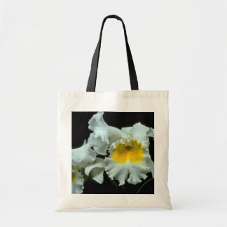 White Orchid With Yellow Throat flowers Canvas Bag