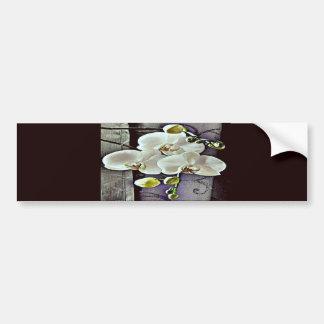 White Orchids and Denim Bumper Sticker