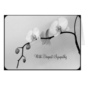 White Orchids for Death of Mother - Sympathy Card