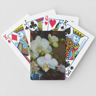 White Orchids Playing Cards
