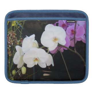 White Orchids Sleeve For iPads