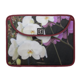 White Orchids Sleeves For MacBook Pro