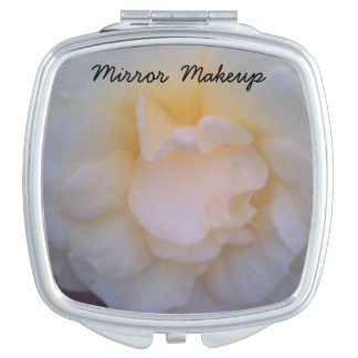 White orchids Square Compact Mirror for makeup