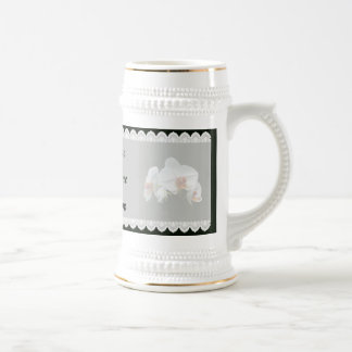 White Orchids With Orange Center Wedding Favors Coffee Mugs