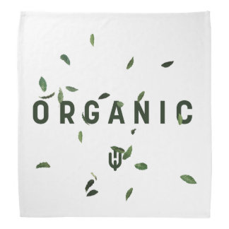 White Organic Bandana