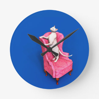 White oriental cat wall clocks