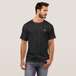 White Ostrich II Silhouette accent T-Shirt