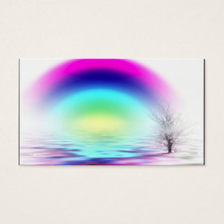 WHITE OUT rainbow flooded, Name, Address 1, Add... Business Card