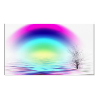 WHITE OUT rainbow flooded, Name, Address 1, Add... Pack Of Standard Business Cards
