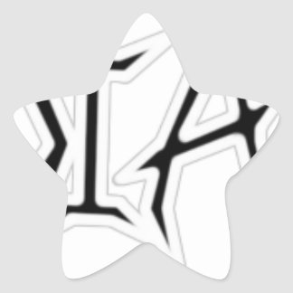 White Outline Star Sticker