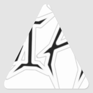 White Outline Triangle Stickers