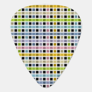 White Outlined Pastel Rainbow Weave Plectrum