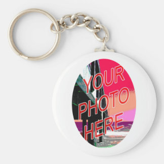 White Oval Mask Frame Template Keychain