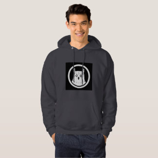 White Owl hooded sweatshirt men black