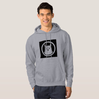 White Owl hooded sweatshirt men grey