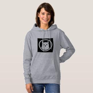 White Owl hooded sweatshirt women grey