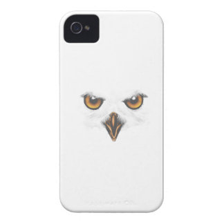 White Owl iPhone Case - White iPhone 4 Case