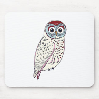 White Owl Mouse Pad
