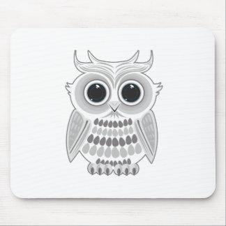 White Owl Mousepad