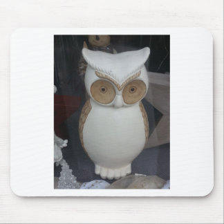 White Owl Mouse Pads