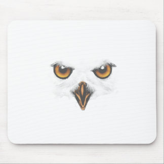 White Owl Mousepad