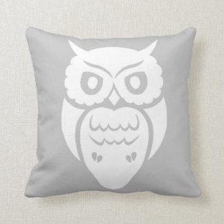 White Owl Throw Cushions