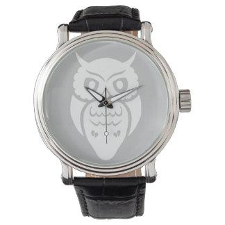 White owl wristwatches