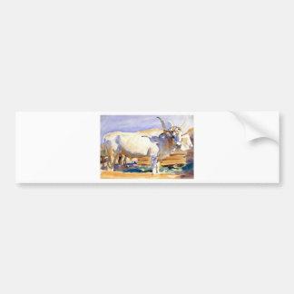 White Ox at Siena by John Singer Sargent Bumper Sticker