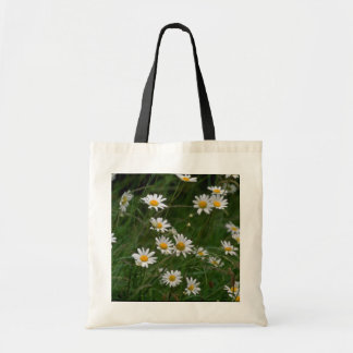 white Oxeye daisy flowers Budget Tote Bag
