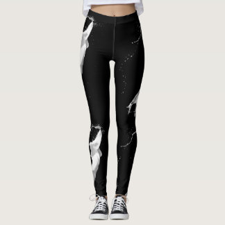 White Paint Splash Leggings