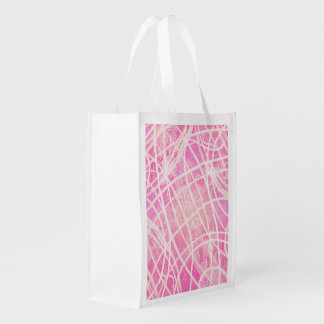 White Paint Stripes Hot Pink Canvas Pattern Image Market Totes
