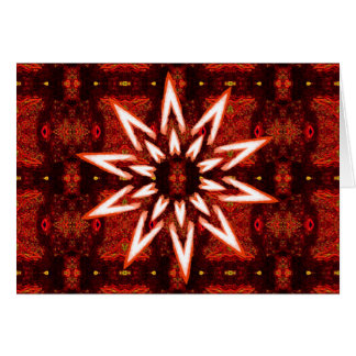 White painted star on tapestry, blank greeting car greeting card