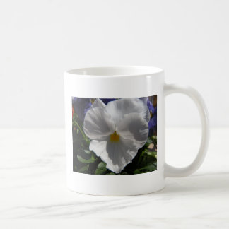 White Pansy for Mother's Day Coffee Mug
